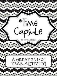 Time capsules are a great end of year activity!! The best time capsule has student, parent, and teacher involvement. This time capsule enables you to do all of that! Give your students an end of year gift that they will treasure for years to come! Imagine how excited they will be when they open the capsule as an adult! The Time Capsule unit provides several areas for the students to utilize their literacy skills.