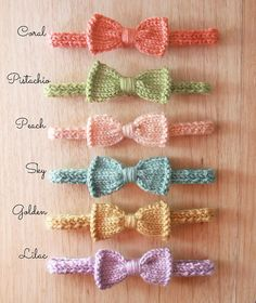 Mini Knit Bow Headband for baby girl newborn to 3 months