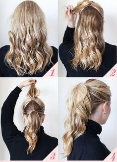 Como fazer penteado