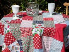 Patchwork Tablecloth by Cathy Erickson from Blueberry Patch