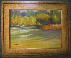 G. McKenzie Impressionist Oil Painting of Autumn Landscape - Beautiful