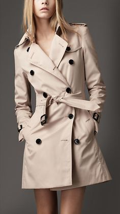 Can't wait for the day I can wear mine again. Need to find a professional to clean it that won't cost an arm and a leg. Burberry - MID-LENGTH COTTON BLEND HERITAGE TRENCH COAT