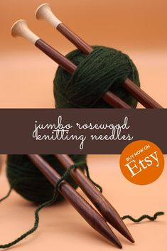 These lovely single-pointed wooden knitting needles are handmade and lovely to knit with. Made with gorgeous rosewood, they warm to your hand offering superior knitting experience. Available on Etsy in various sizes, 30cm long. Wooden Knitting Needles, Knitting Accessories, Knitting Projects, I Shop, Warm, Trending Outfits, Unique Jewelry, Handmade Gifts, Beautiful