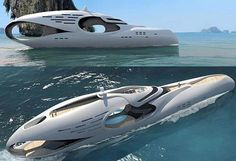 Futuristic Yacht....sail away with me!