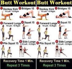 15 Min Butt Lifting Workout - HASfit Firming Butt Workouts - Glute Exercises - Shaping Butt Exercise