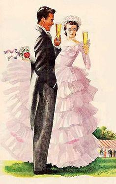 To Us Vintage Wedding Illustration
