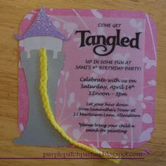 """Photo 9 of 27: Rapunzel Disney's Tangled Inspired / Birthday """"Disney's Tangled 4th Birthday Party""""   Catch My Party"""