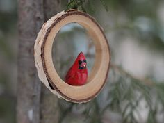 By Hook and Thread: cardinal ornaments