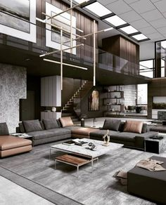 design living room luxury Living room decor always need a luxurious suspension lamp Home Design Decor, Dream Home Design, Modern House Design, Interior Design Living Room, Living Room Designs, Home Decor, Design Ideas, Luxury House Plans, Luxury Houses