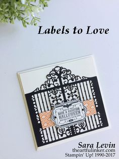 Sara Levin | theartfulinker.com Click the picture to see more of Sara's Designs. Labels to Love for Halloween, Christmas and spring. Card and treat boxes. Stamping Sunday blog hop. Detailed Gate, Spooky Night and Painted Autumn. Holiday Catalog 2017. Handmade cards, rubberstamps, cardmaking, stampinup, stamping, saralevin, theartfulinker