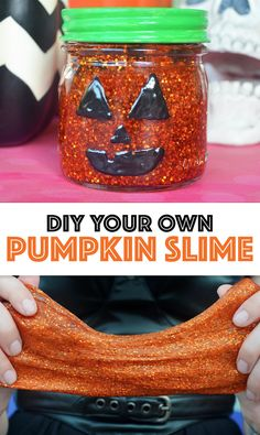 Make your own pumpkin slime with this tutorial by Swelldesigner for Darby Smart.