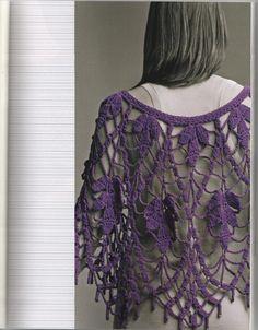 Ponchos Crochet - Crochet Ponchos - Ponchos Crochet - Blog-creative world