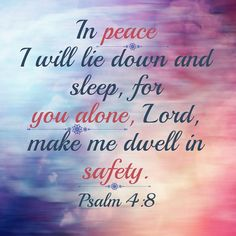 """The saying """"sleep like a baby"""" has a new meaning. We are all God's children. We can sleep like His baby and rest knowing that He is taking care of everything!"""
