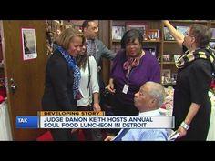 Judge Damon Keith host soul food luncheon - YouTube