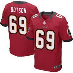 Jerseys NFL Wholesale - Tampa Bay Buccaneers Demar Dotson Elite Nike Women's Red Jersey ...