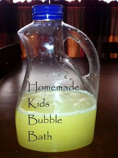 This is my first attempt at making homemade bubble bath for my kids. All kids love to take baths and mine do so daily but buying bubble . Bubble Bath Homemade, Homemade Bubbles, Homemade Baby Gifts, Diy Gifts, Homemade Art, Kids Bubbles, Bath Bubbles Diy, Bath Recipes, Nails Polish