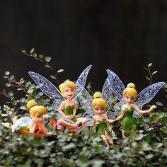 4 pcs/ Set Miniature Flower Fairy Elf Garden Home Houses Decoration Mini Craft Micro Landscaping Decor DIY Accessories Fairy Terrarium, Sand Table, Mini Craft, Table Accessories, Diy Table, Wish Shopping, Artificial Flowers, Elf, Home And Garden