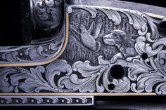 Hand engraved gun by Bill Oyster of Oyster Bamboo Fly Rods. Photo by David Cannon. Handcrafted for your lifetime…an heirloom for future generations. Bamboo Fly Rod, Fly Rods, Hand Engraving, Cannon, Fly Fishing, Oysters, Gun, David, Future