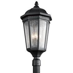 Kichler Courtyard 3 Light Outdoor Post Light - Black