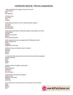 Trivia Movie Quiz Questions, Halloween Trivia Questions, Trivia Questions For Kids, Trivia Quiz, Halloween Facts, Halloween Class Party, Halloween Film, Halloween 2017, Halloween Ideas