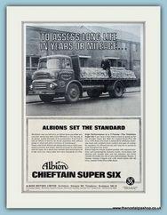Albion Chieftain Super Six Truck Original Advert 1966 (ref AD2973)