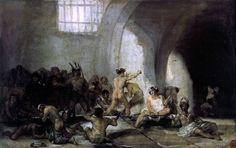 The Madhouse by Francisco De Goya http://www.artoyster.com/francisco-jose-de-goya-y_lucientes-paintings_the-madhouse_pe29106.html madhouse painting #madhouse art