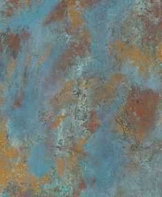 hand painted copper oxide wall coverings contemporary 17. Love those walls:)