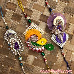 Exclusive Designed Rakhi Set Rakhi Pic, Rakhi Images, Send Rakhi To India, Buy Rakhi Online, Handmade Rakhi Designs, Rakhi Cards, Diwali Decorations At Home, Rakhi Making, Rangoli Designs Flower