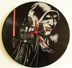 Star Wars vinyl clock by UniqueVinylClocks on Etsy