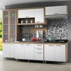 Kit Cozinha MDP com Pintura UV Texturizada 11 Portas com as melhores condições você encontra no site do Magazine Luiza. Confira!