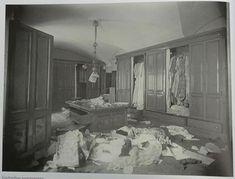 Empress Alexandra Feodorovna's wardrobe at the Winter Palace ransacked after the 1917 Revolution. #theromanovs