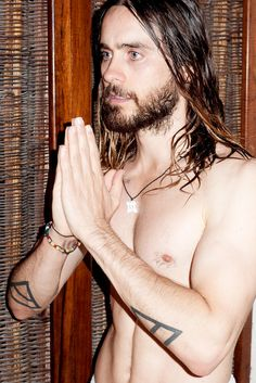 And the front of him: | Jared Leto Defies All Aging Logic As The Sexiest 42-Year-Old Man On Earth