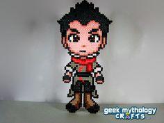 Mako Legend of Korra Perler Bead Sprite by GeekMythologyCrafts