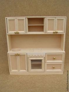 Кукольный дом ручной работы. Ярмарка Мастеров - ручная работа Кухонный гарнитур для кукол до 30 см. Handmade.