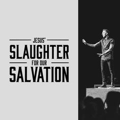 """Jesus' slaughter is our salvation."" #skullchurch"