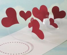 Hearts Card Spiral Pop Up - 3D Hearts Card - Love, Anniversary, Happy Birthday, I Love You, Wedding, Engagement, Valentine's Day Card