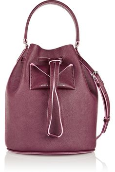 Marc by Marc Jacobs | Metropoli textured-leather bucket bag | NET-A-PORTER.COM