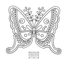 Vintage Butterfly Embroidery Pattern by latonya