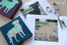 How to make a DIY pet art print on canvas using your pet's photo | CherylStyle.com