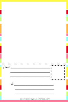 postcards for little artists: free printable