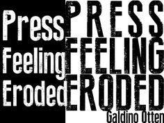 Press Feeling Eroded Font   dafont.com