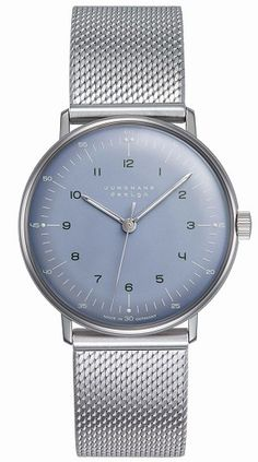 Max Bill Hand-Winding Ice-Blue Dial 027/3600.44