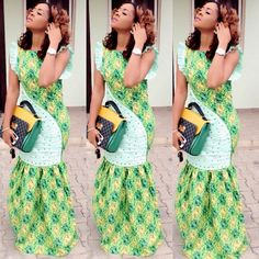 Ankara Long Gown Styles For Ladies http://www.dezangozone.com/2016/08/ankara-long-gown-styles-for-ladies_26.html