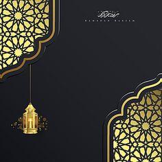رمضان كريم خلفيات اسلامية مع فانوس شهر توهج ضوء Png والمتجهات للتحميل مجانا Latar Belakang Lentera Desain Banner