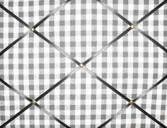 Medium Laura Ashley Charcoal Gingham Hand Crafted Fabric Notice / Pin / Memo Board