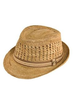 8031905c7c381 Tommy Bahama Crochet Raffia Fedora available at