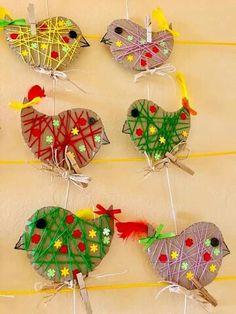 Cute Kids Crafts, Animal Crafts For Kids, Summer Crafts For Kids, Spring Crafts, Preschool Crafts, Diy For Kids, Bird Crafts, Butterfly Crafts, Flower Crafts