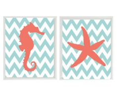 coral and aqua: for baby girls room!