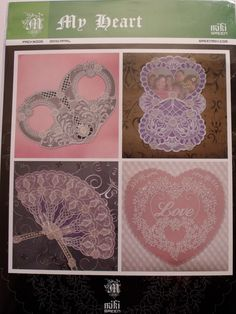 MIKI GREEN PATTERN - MY HEART      Miki Green's pattern pack- My Heart. Four beautiful patterns for cards or pictures which you can frame.