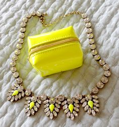 J.Crew necklace & Pinch Provisions Pouch